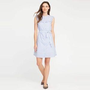 Old Navy seersucker striped shirt dress!! Size M!!